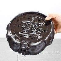 Tea tray household compact mini kungfu dry soaking table purple sand water storage ceramic small tray