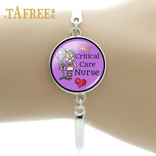 US $1 19 40% OFF|TAFREE Charm delicate handmade bracelet art photo critical  care nurse hospital for nurse souvenir gift bracelet jewelry DO89-in Chain