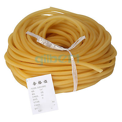 1M 4x6 5x7 6x9 8x12mm Elastic Natural Latex Rubber Band Tube for Hunting Slingshot Catapult