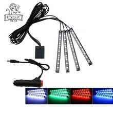 Car LED 36-SMD foot lamp ambient light voice control music phone 5050 12 SMD 12V
