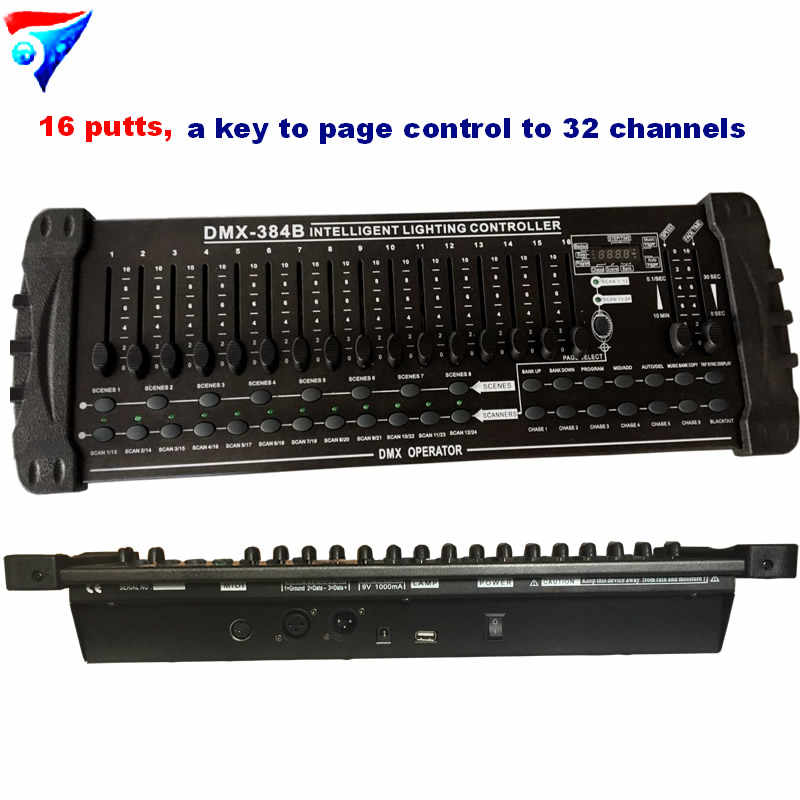 Free Shipping 384B DMX Controller Stage Lighting DMX 384 Console DMX 512 controller DJ equipment
