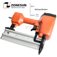 ZONESUN ST64 Steel Iron Nail Gun Pneumatic Micro Pinner Nailer Air Brad Pin Gun For Furniture Wood Sofa Woodworking Air Stapler
