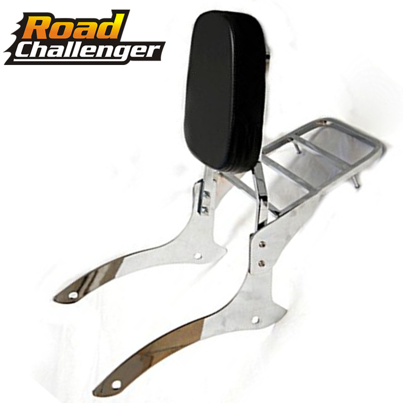 Motorcycle Rear Passenger Backrest Sissy Bar + Luggage Rack For 2000-2011 Yamaha V-Star V Star XVS Dragstar 1100 Classic