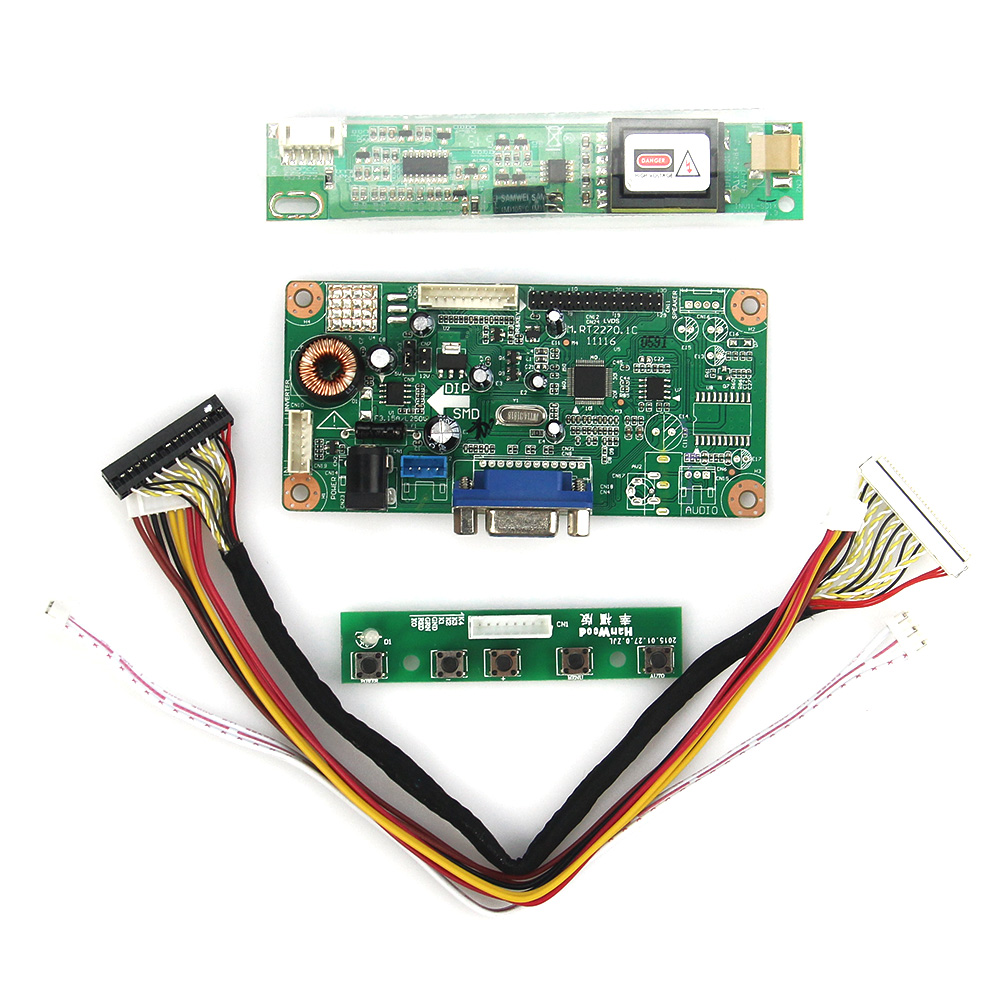 Control Driver Board (VGA) For LT141X7-124 L141X1 1024x768 LVDS Monitor Reuse Laptop