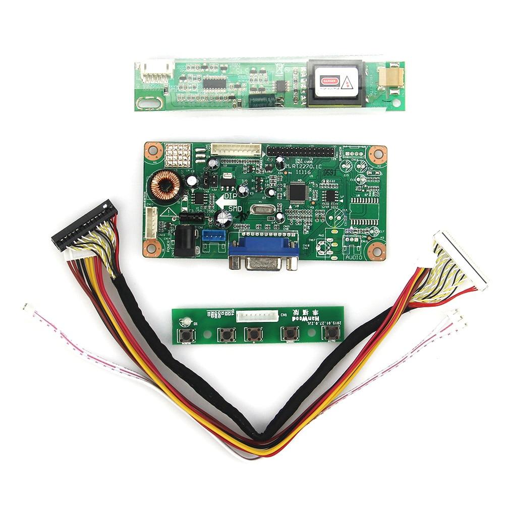 Control Driver Board (VGA) For LT141X7-124 L141X1 1024x768 LVDS Monitor Reuse Laptop