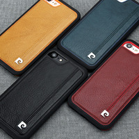 Pierre Cardin Luxury High Quality Ultra Thin Genuine Leather Phone Case For Apple Iphone 8 8