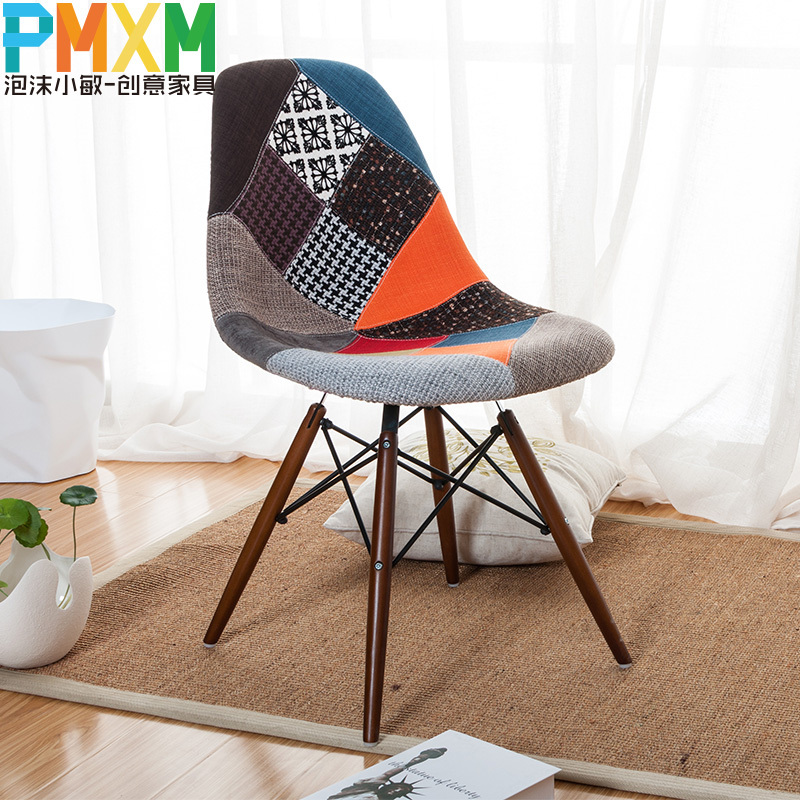 Ims One Hundred Cloth Chair Dining Chair Dining Chair Simple Fashion - One-hundred-triangles-stool