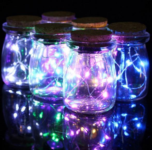 Party Decoration Micro Led Seed Vine Vase Lights Wedding
