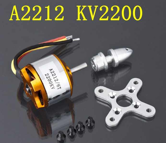 A2212 Brushless Motor 930KV 1000KV 1400KV 2200KV 2450KV 2700KV For RC Aircraft Plane Multi-copter Brushless Outrunner Motor