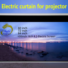 Электрический экран 60 72 84 100 дюйма с моторизованным 16:9 или 4:3 для всех Светодиодный ЖК DLP лазерный проектор электрический проектор экран