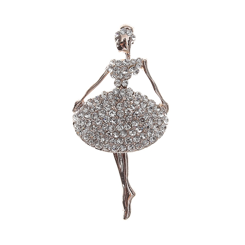 Bling Gem Body Jewelry Gifts Beautiful Princess Ballerina 2018 New Style Brooch Exquisite Elegant Hot Sale Fashion