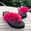Specia diseño de aspecto hermoso cuatro colores cuñas de las mujeres flip flop verano time ropa casual zapatos femeninos de la nueva llegada de la venta caliente