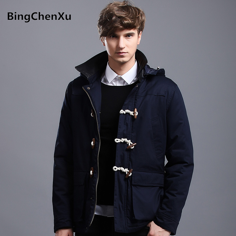 Winter Jacket Men 2017 Brand Parka Solid Colors Jacket Men Down Padded Hooded Thick Warm Wadded Coat Male Casual Overcoat 443 мужской пуховик al men s padded jacket winter warm hooded jacket