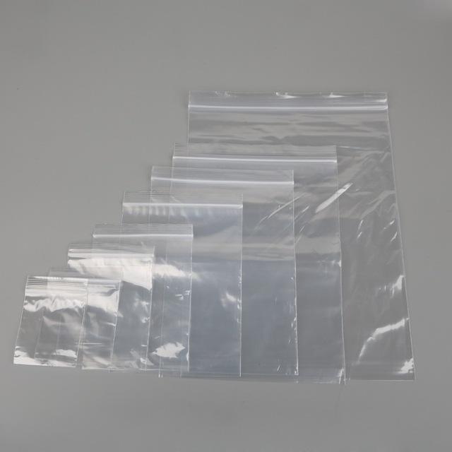 Heavy Duty Various Sizes Reclosable Plastic Packaging Bags Zip Lock Poly Zipper Clear Ziplock