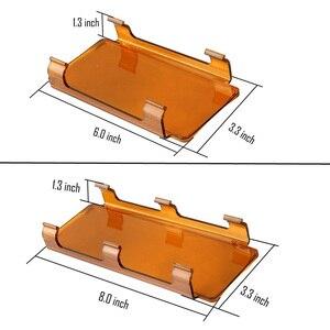 "Image 2 - 2pcs 6 ""אינץ/8"" led אור בר אבק הוכחת עדשת מכסה עבור 7/12/20/22/32/42/50/52 אינץ Offroad ישר מעוקל אור LED בר SUV"