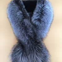 100 Natural Fur Shawl Luxury Silver Fox Fur Collar Scarf 130 Cm Women Real Fox Collars