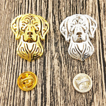 dropship fashion Hungarian Vizsla dog Broches and pins gold color Collar Pin Jewelery Clothing Accessories Men's Gift