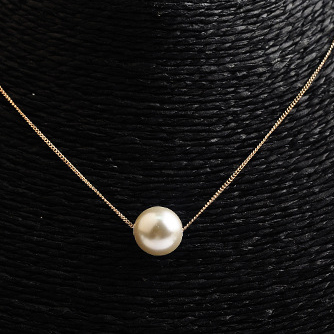 New Sweety Single Round Faux Pearl Necklace in Rose Gold/Silver Color,Trendy Pearl Pendant Necklace in Cheap Price