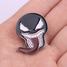 Metal Marvel Venom Brooch Toys 2018 New Venom Action Figures Breastpin for Adults Venom Mask Figurines Pin Ouch Badge Kids Toys(China)