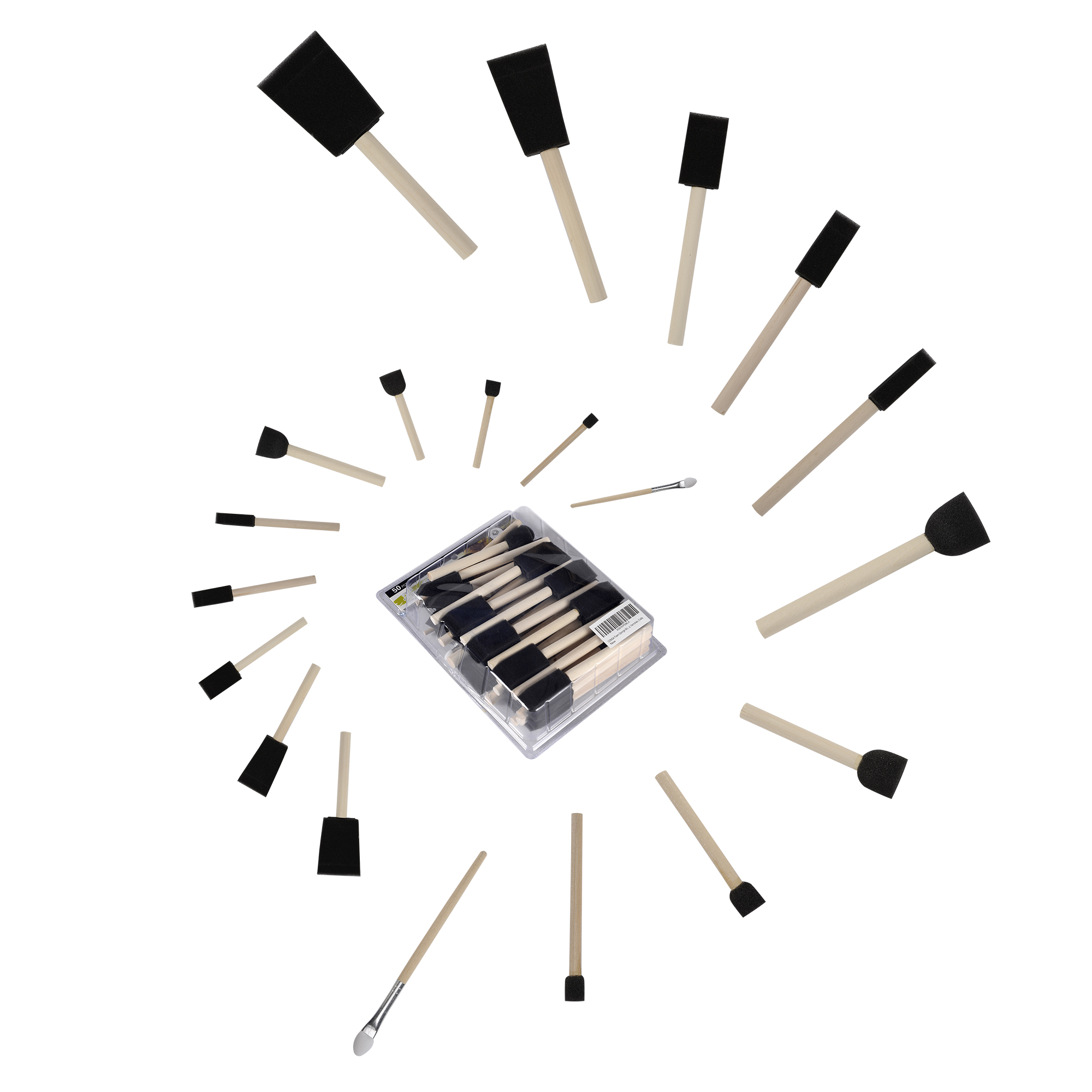 Foam Brush Set Conda 50Pcs/set DIY Graffiti Sponge Art Supplies Brushes Seal Painting Tools Funny Creative Toy for Funny DrawingFoam Brush Set Conda 50Pcs/set DIY Graffiti Sponge Art Supplies Brushes Seal Painting Tools Funny Creative Toy for Funny Drawing