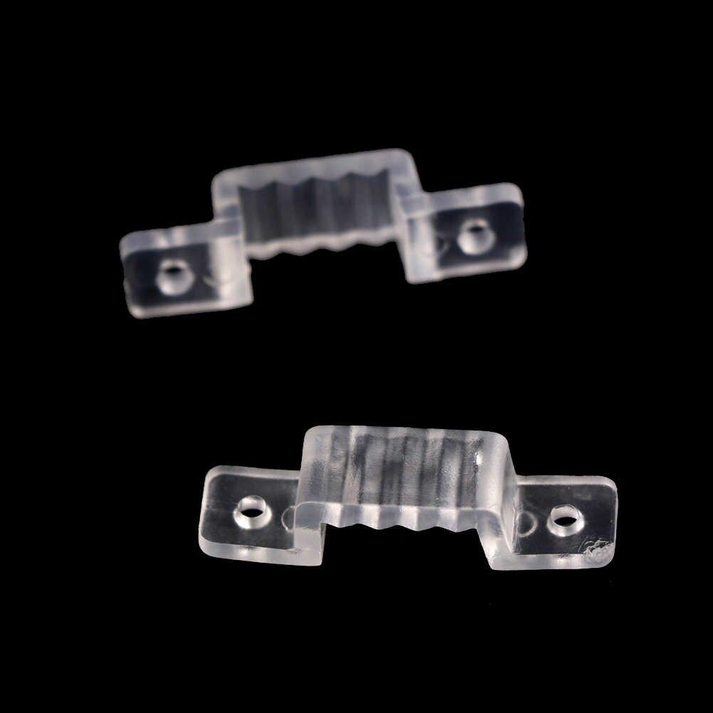 100 шт. 10 мм светодиодный крепежный силиконовый монтажный зажим для 220 В 5050 2835