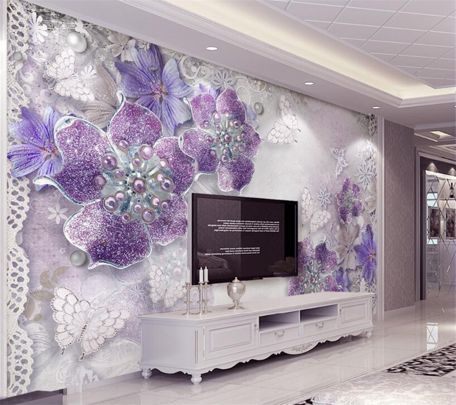 Beibehang 3D Wallpaper Noble Ornate Purple European Style 3d TV Backdrop Living Room Bedroom Mural photo wallpaper for walls 3 d custom mural wallpaper european style 3d stereoscopic new york city bedroom living room tv backdrop photo wallpaper home decor