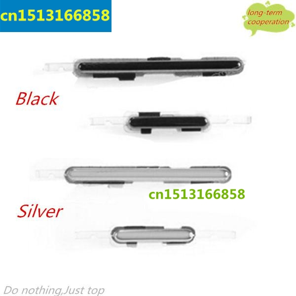 Volume And Power Button Side Key For Samsung Galaxy Note 2 / II N7100 N7105 Volume Power Key - Silver/Black