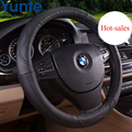 Black Leather Hand -stitched Car Steering Wheel Cover for Volkswagen Passat B5 VW Passat B5 VW Golf 4