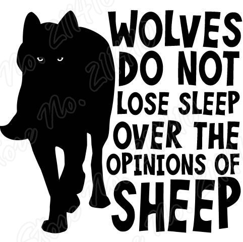 Wolves do not lose sleep over the opinions of Sheep Motivational Wall Decal Bedroom Decor Removable Vinyl Art Wall Sticker B132