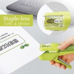 Япония KOKUYO Harinacs штапель-без скоб степлер Большой Творческий штапель-меньше ручной степлер офисные канцелярские принадлежности безопасный ...