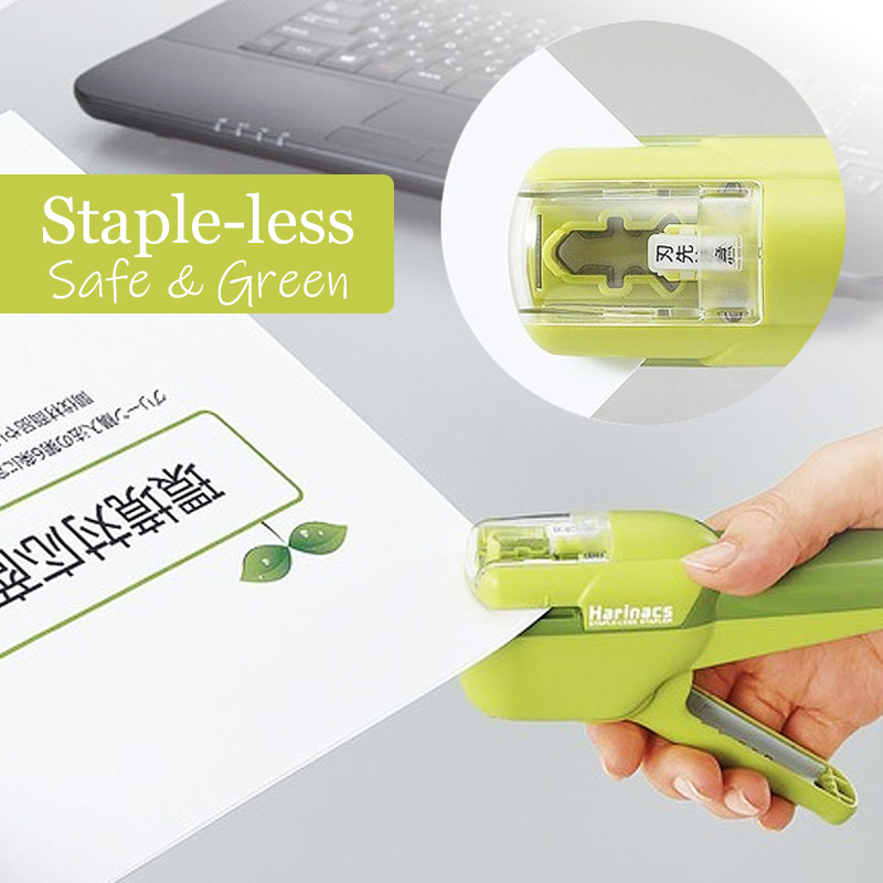Japan KOKUYO Harinacs Staple-Free Stapler Large Creative Staple-less Manual Stapler Office Stationery Safe Easy Use