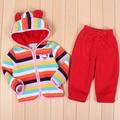 Одежда для младенцев комплект дети спорт костюм тёплый девочки одежда год костюм мальчик наряды