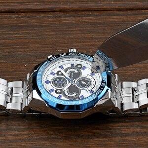 Image 5 - Часы WWOOR Мужские Наручные с большим циферблатом, брендовые Роскошные модные, из нержавеющей стали, 2019