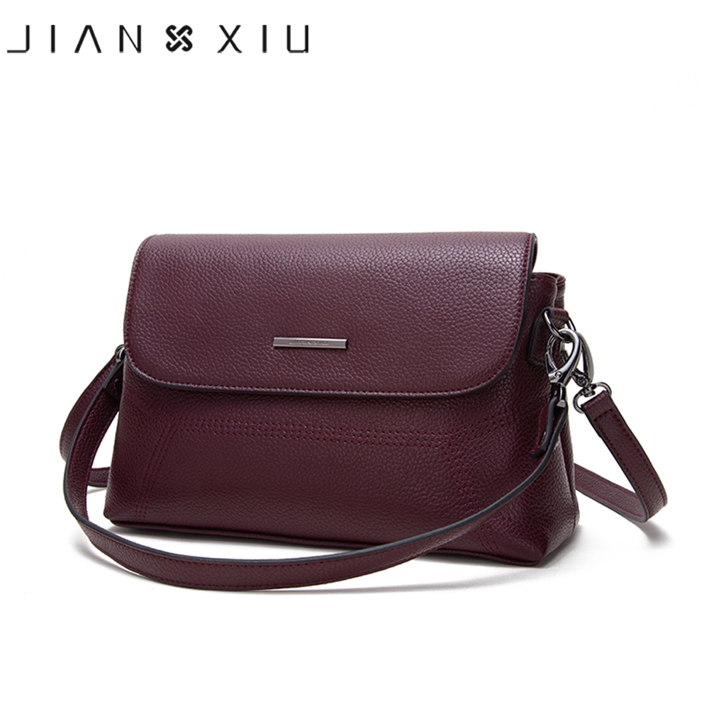 JIANXIU Brand Women Messenger Bags Female Shoulder Crossbody Litchi Texture Genuine Leather Handbag 2019 New Tote