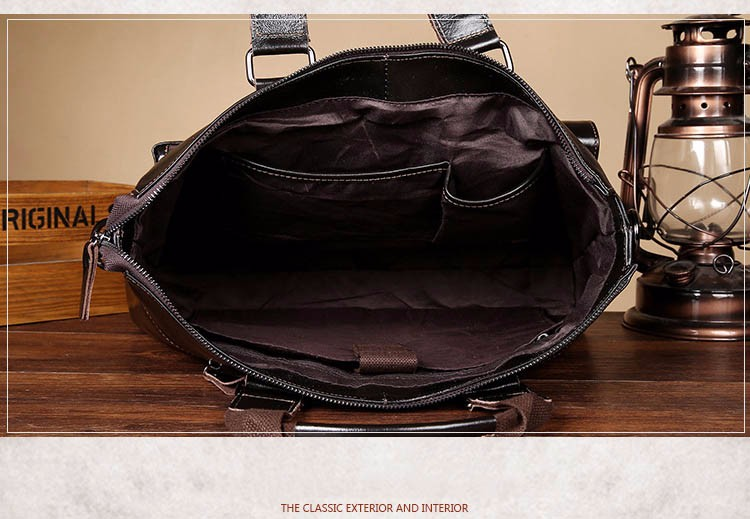 Topdudes.com - Luxury Genuine Leather Business Briefcase