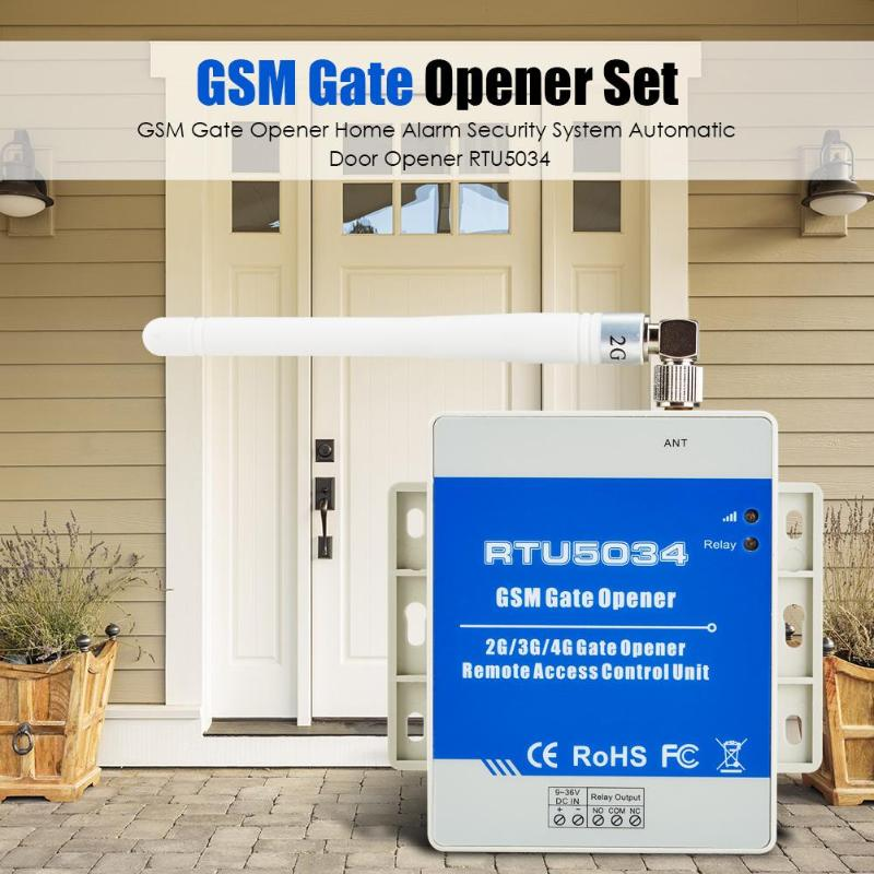 GSM Gate Opener Home Alarm Security System Automatic Door Opener RTU5034 Gate Opener Access Relay Switch Remote Control Tool
