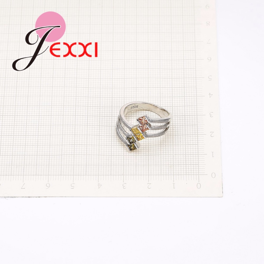 JEXXI Big Size 925 Sterling Silver Ring Paved AAA Clear Cubic - Märkessmycken - Foto 2