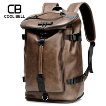 PU Leather Large Capacity Men Backpack Male Travel Bag Password Anti Theft Backpack Men USB Charging Laptop Backpack Duffle Bag цена 2017