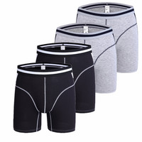 4pcs Boxers Men Underwear Long leg Modal Men Boxer Shorts Homme Slip Panties Mens Underpants Hombre Brand Man