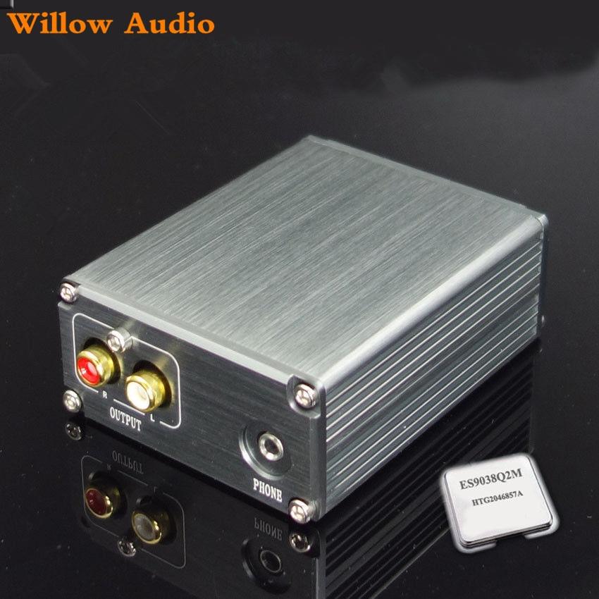 HiFi ES9038Q2M decoder XMOS XU208 USB DAC Soundcard Headphone support DSD