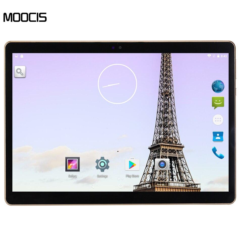 MOOCIS tableta de 10.1 pulgadas 3G Llamada de Teléfono Android 5.1 MTK Quad Core