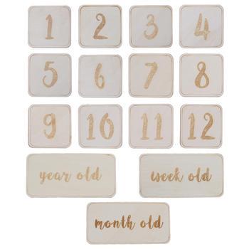 15 Pcs/Set Milestone Baby Memorial Cards Unique Memory Discs Photography Photo Props Decor Newborns Gifts
