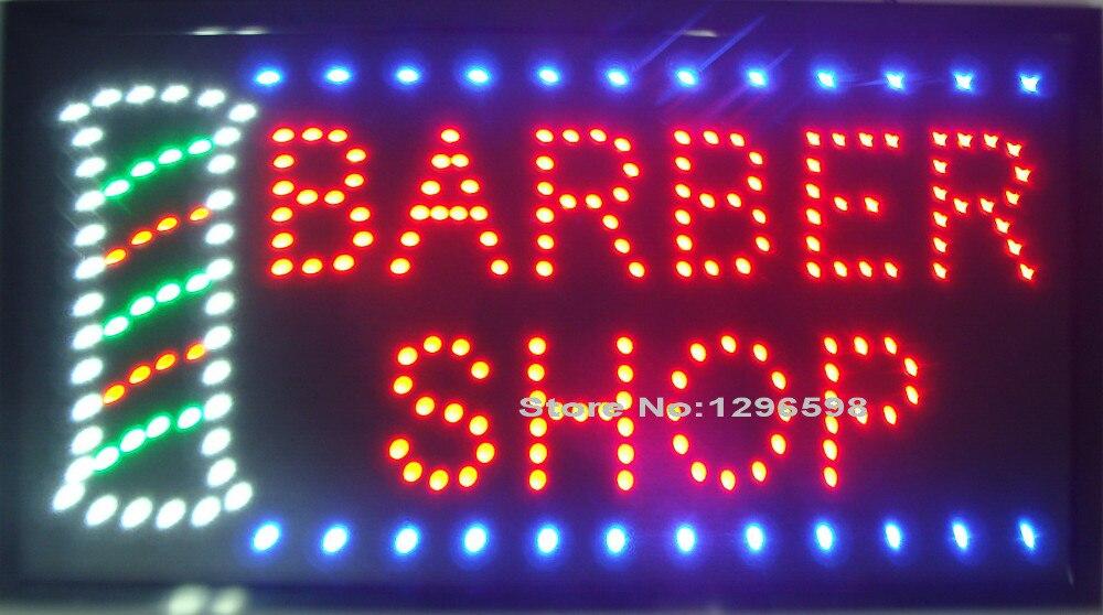 2017 barbier magasin LED signe plus grande taille graphiques 24x13 pouces intérieur Ultra lumineux néon signe de barbier LED pas d'animation