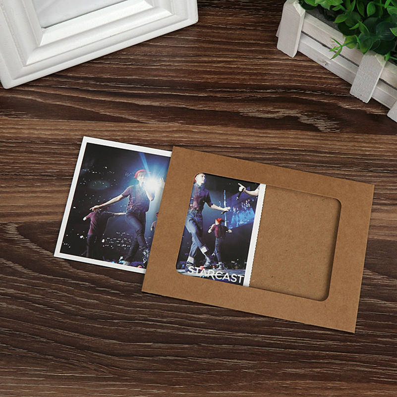 10 unids/set Kraft papel fotográfico Marcos DIY cuadro colgante ...