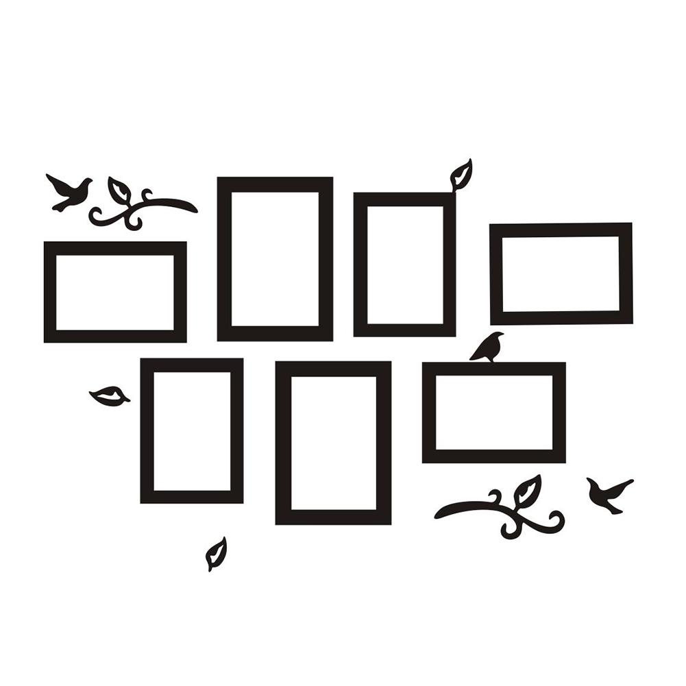 Aliexpress com buy removable photo frame wall sticker vinyl decal the memories frames for picture family stickers home decor living room black from