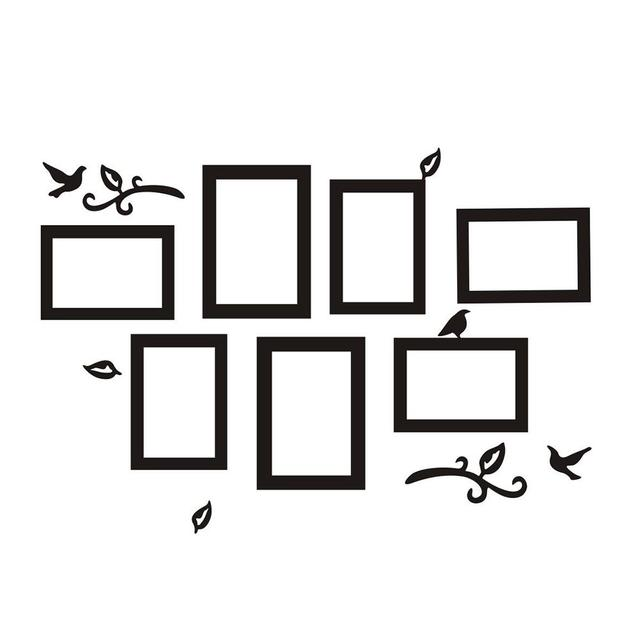 Removable Photo Frame Wall Sticker Vinyl Decal The Memories Frames For Picture Family Stickers Home Decor Living Room Black