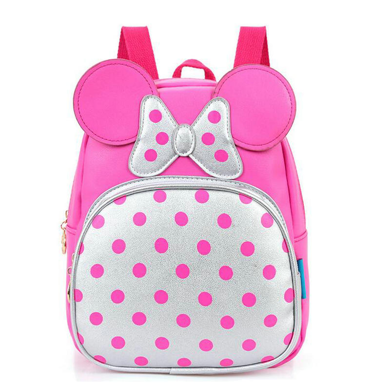 Fashion PU Kindergarten schoolbag boys girls Mickey cartoon cute backpack small children princess baby backpack 3-6 years old