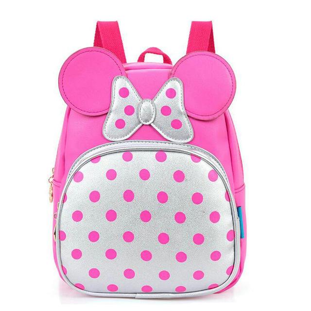 c21312a5f4e6 Мода PU Детский сад Школьный для мальчиков и девочек Микки мультфильм милый  маленький рюкзак детей Детки