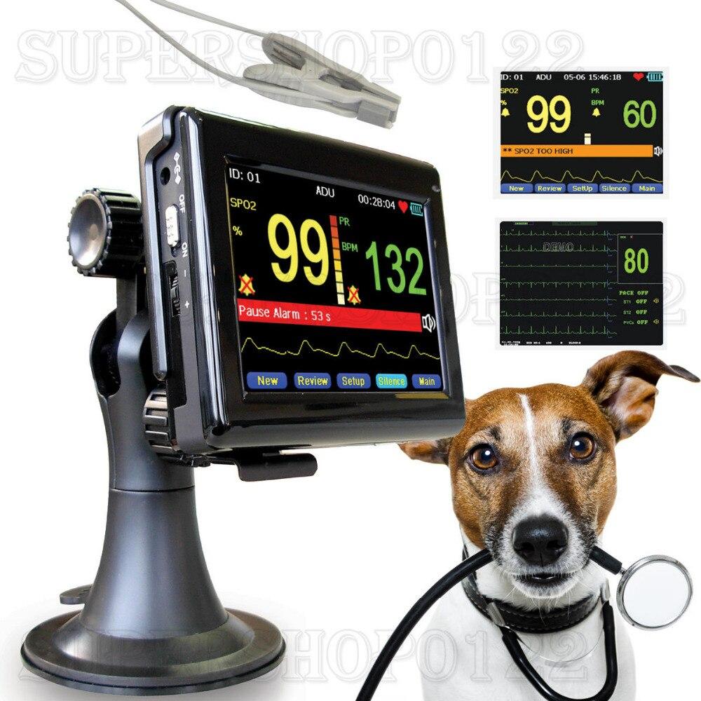 CONTEC PM60A Vétérinaire oxymètre de pouls, moniteur patient + vétérinaire Spo2 PR sonde, vétérinaire, animal De Poche, CE