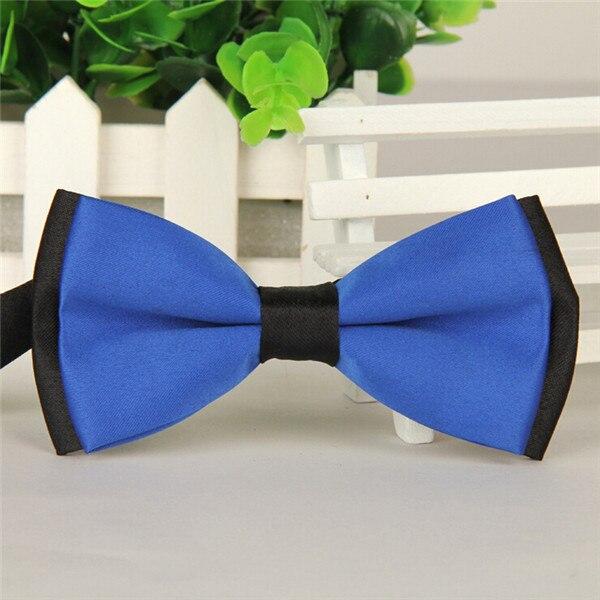 Бренд, 11 цветов, галстук-бабочка, модный мужской галстук-бабочка, деловой, деловой, Свадебный, черный/красный/фиолетовый/желтый/розовый галстук-бабочка - Цвет: Синий